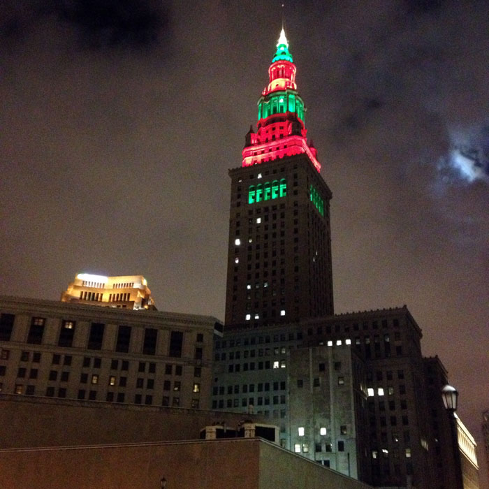 The Terminal Tower At Christmas