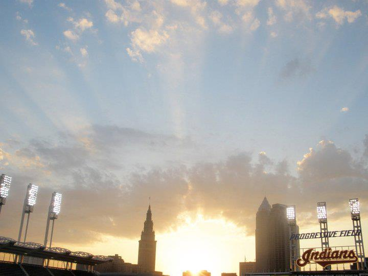 Sunset at Progressive Field