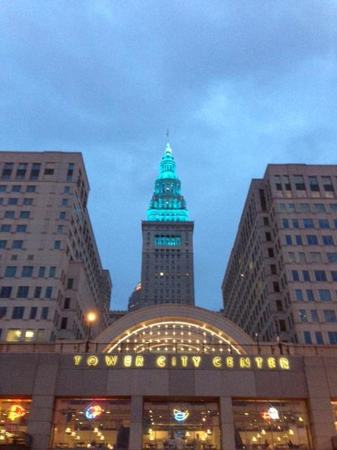 The Terminal Tower In Teal