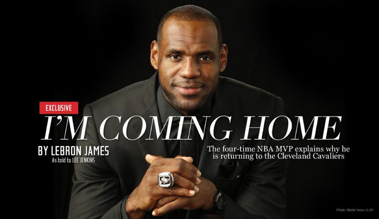 LeBron James Returns Home To Cleveland
