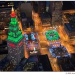 Public Square Lit Up For The Holidays