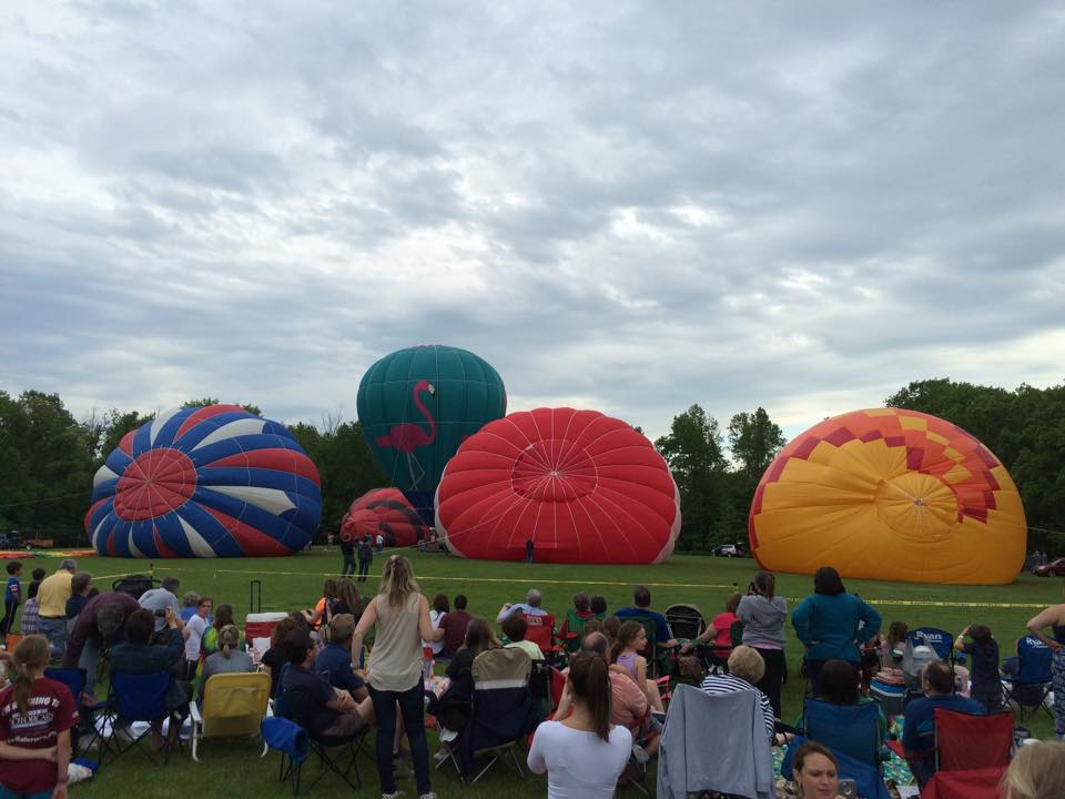 Chagrin Falls Hot Air Balloon Night