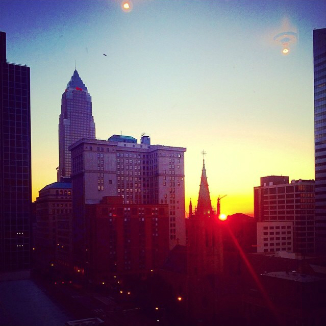 Late Night Sunset In Cleveland