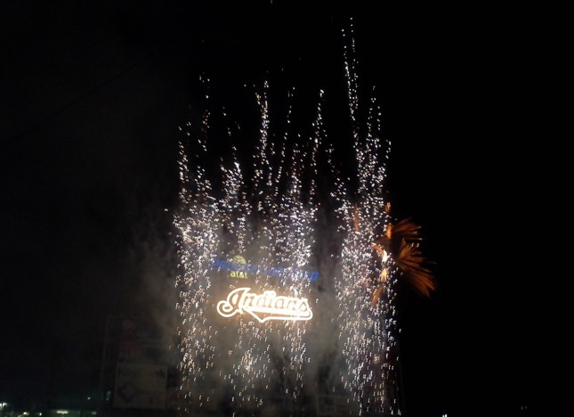 Fireworks At Progressive Field