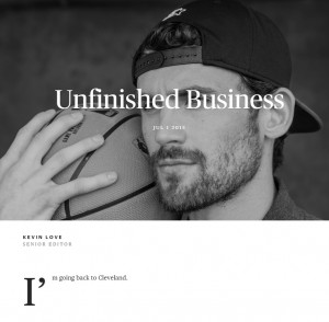 Kevin Love - Unfinished Business