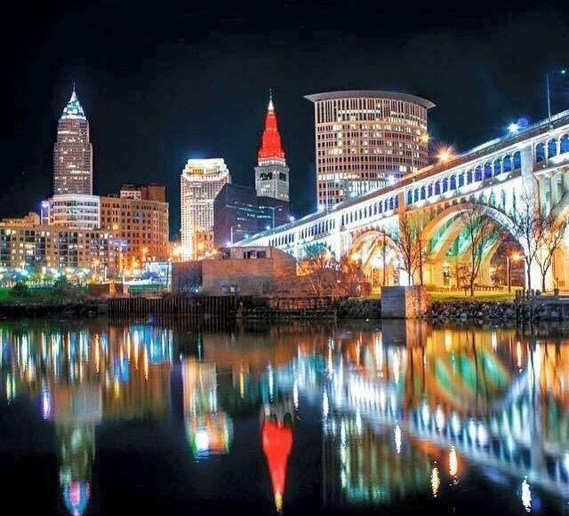 Colorful Downtown Cleveland