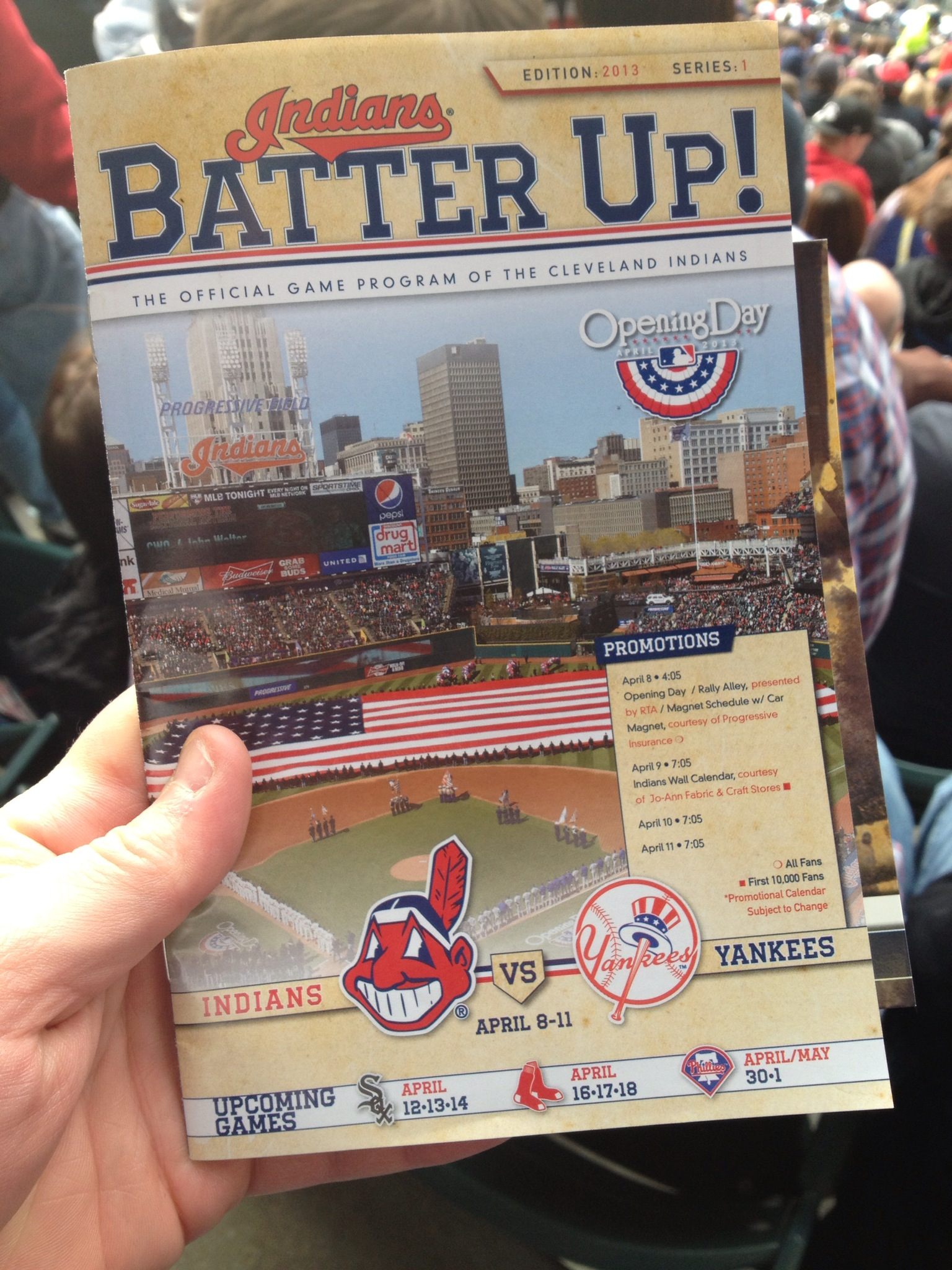 Indians Batter Up Game Program