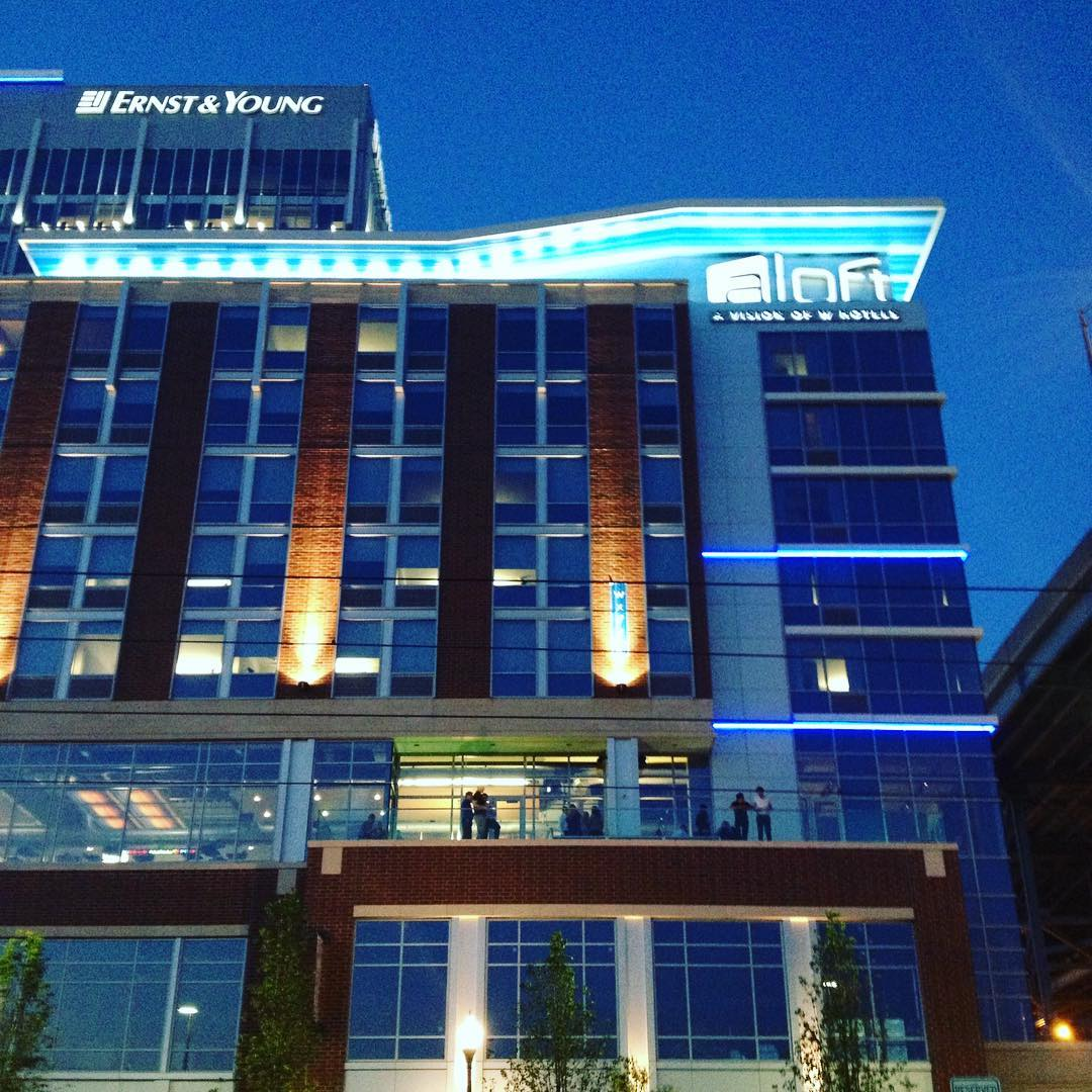 Aloft Cleveland All Lit Up!