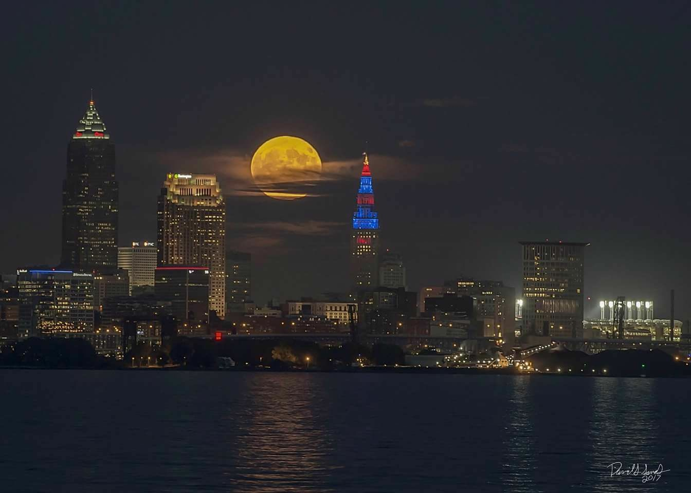 Super Moon Over Cleveland