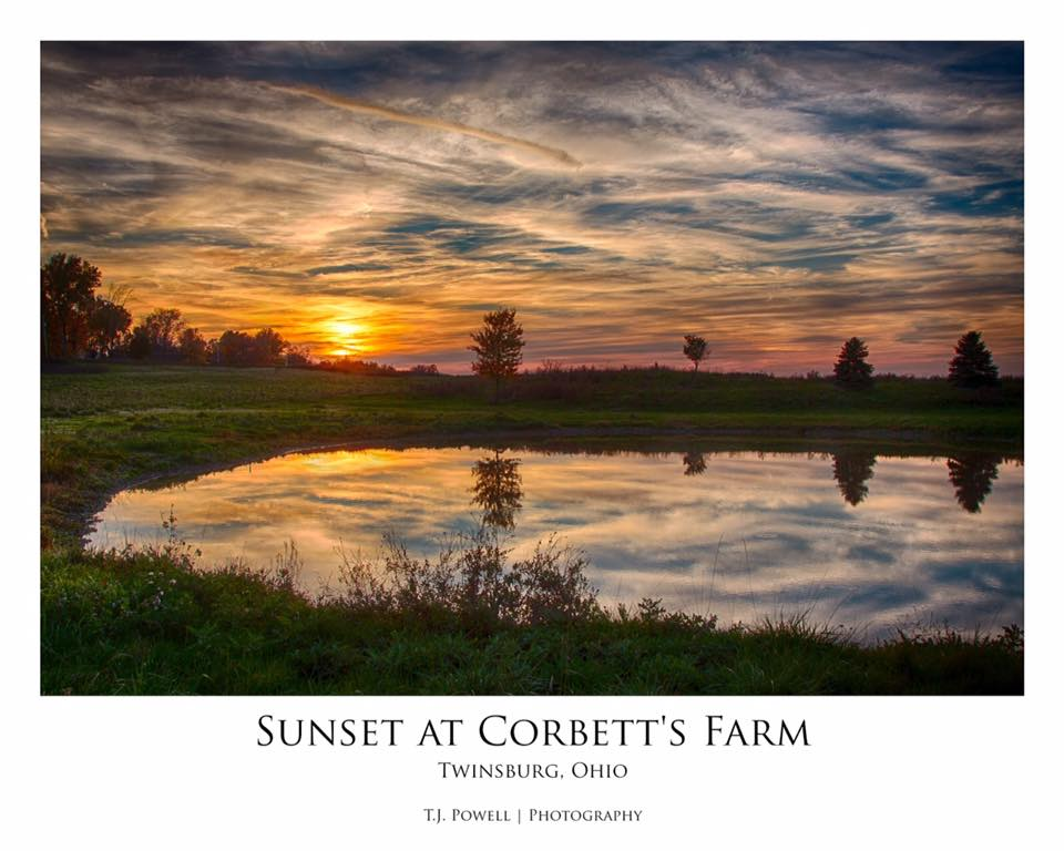 Sunset at Corbett's Farm in Twinsburg