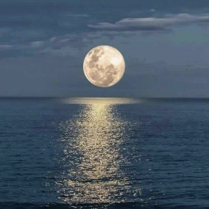 Super Moon Over Lake Erie